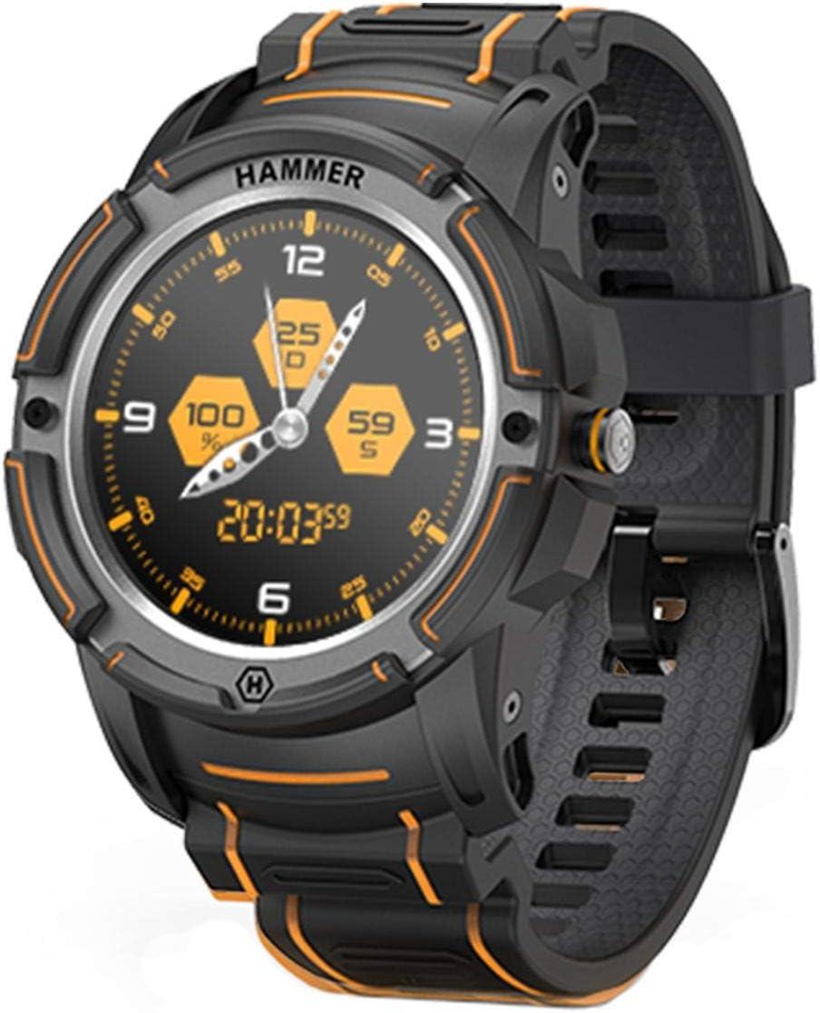 Hammer Watch Smartwatch Fitness Tracker Reloj Inteligente Impermeable IP68 Pulsera de Actividad Inteligente con Pronóstico del Tiempo de Caloría Pulsómetros Podómetro