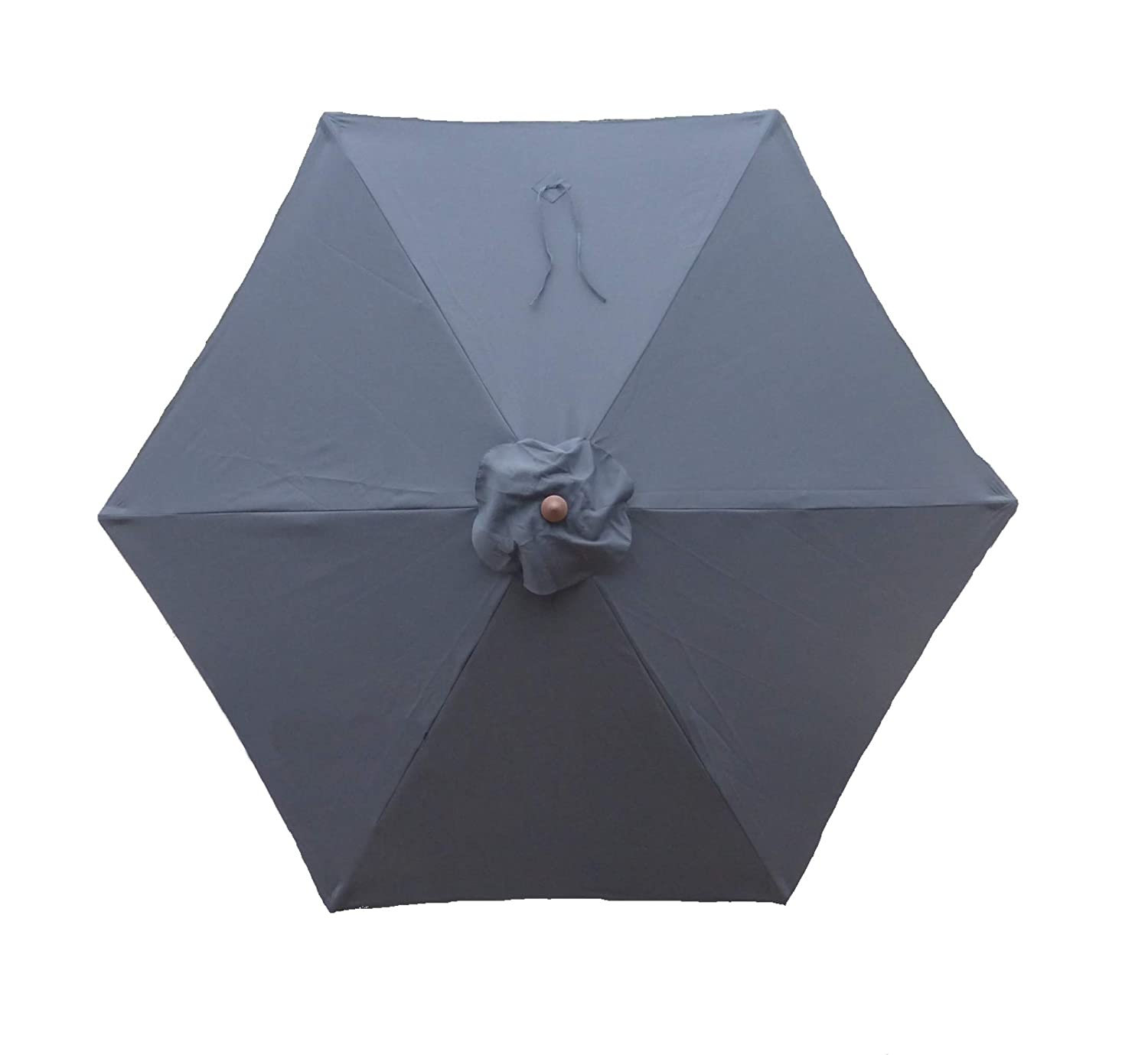 Formosa Covers 9ft Umbrella Replacement Canopy 6 Ribs in Charcoal Grey Canopy Only