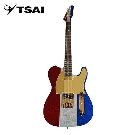 SY-F-005 Guitarra eléctrica con cuerpo de aliso 22 trastes Pastillas dobles Instrumentos