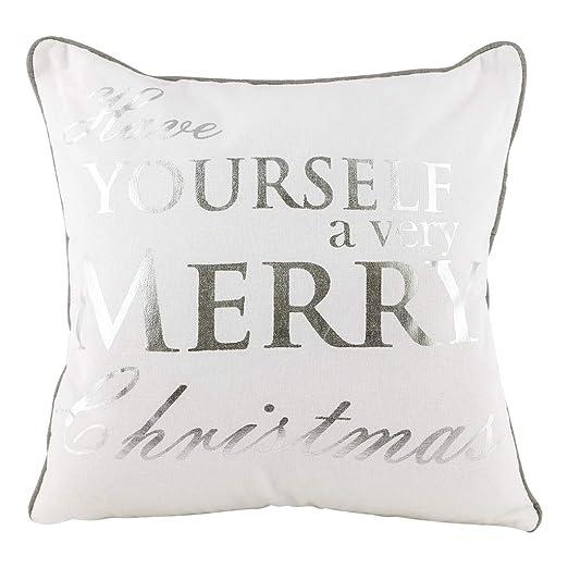 Dibor Cojín de decoración para Navidad, 100% algodón, Color ...