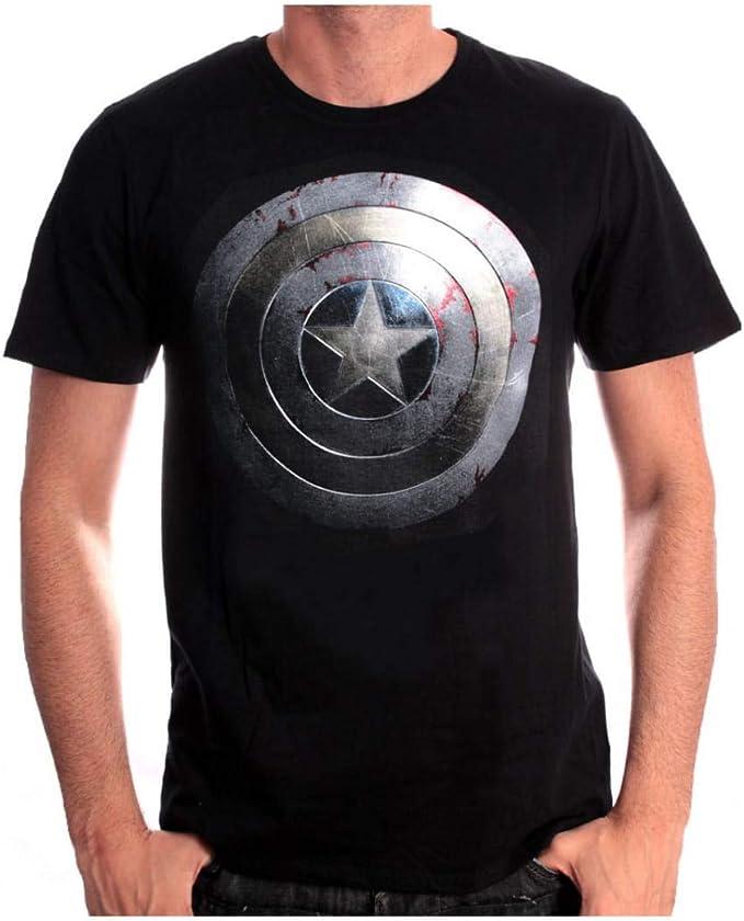 Capitán América Camiseta Escudo de plata S: Amazon.es: Juguetes y juegos
