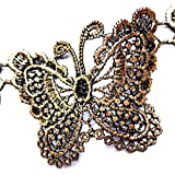 30 Pc Butterfly Pattern Embroidery Decorative Decals Sewing DIY Craft Project Decorative Lace White