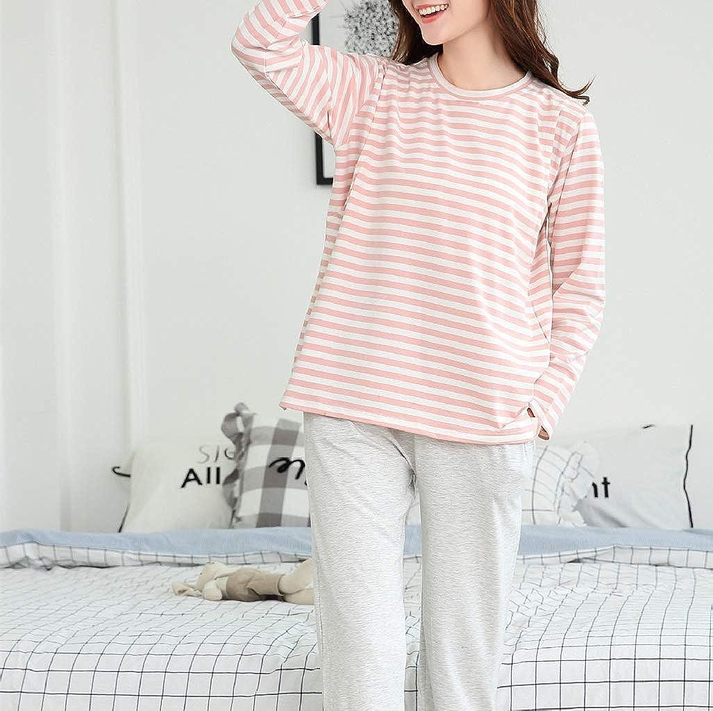 zhxinashu Schwangere Gestreifte Pyjamas Umstands Winter Krankenpflege Kleidung