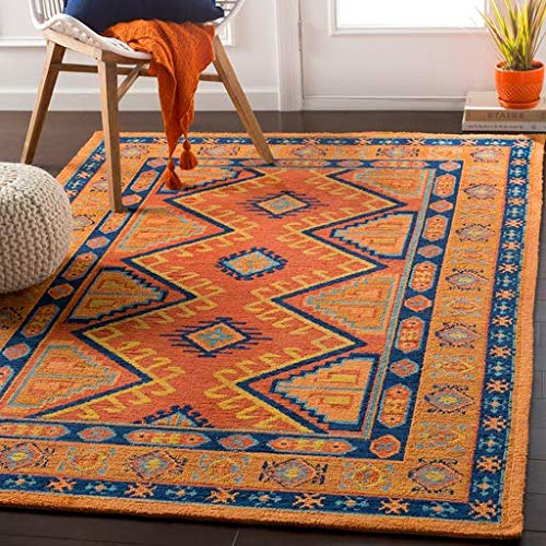 Cainhoy Moroccan Southwestern 2' x 3' Rectangle Bohemian/Global 100% Polyester Terracotta/Burnt Orange/Bright Orange/Lime/Navy/Teal/Camel Area Rug