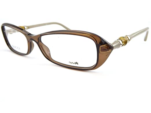 gucci womens glasses frames 52mm brown beige bamboo gg3147 rld - Womens Gucci Frames
