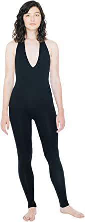 American Apparel Women's Cotton Spandex Halter Catsuit