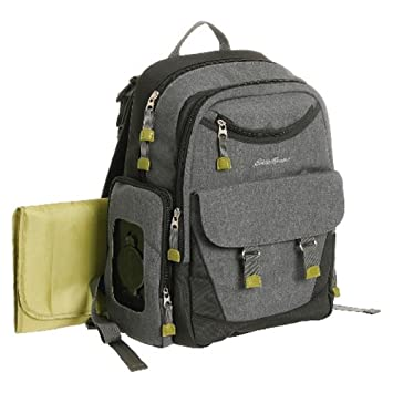 a9dd18e3c181 Image Unavailable. Image not available for. Color  Eddie Bauer Eddie Bauer  Places   Spaces Dk Grey Heather Back Pack Diaper Bag ...