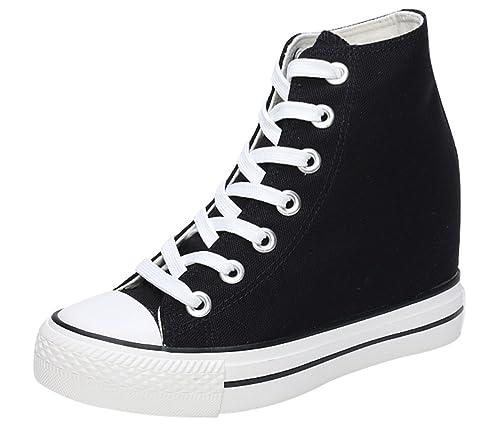 | ACE SHOCK Canvas Shoes Women with Hidden Heels