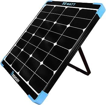 Renogy 50-watt 12-volt Eclipse Monocrystalline Portable Solar Panel