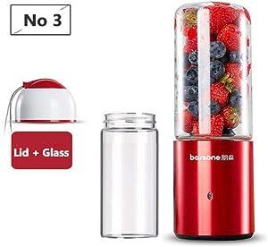 Juicer,Portable Automatic USB Juicer,Vegetables Fruit Juice Smoothie Maker Juicer,Cup Extractor Food Blender Electric Juice Machine Lid and Glass