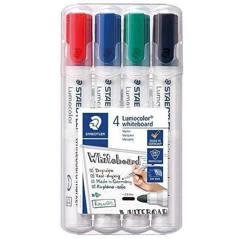 confezione da 6 punta tonda,351 WP6 /& 652 BK Cancellino per Lavagne Bianche STAEDTLER Lumocolor whiteboard marker