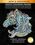 Adult Coloring Books For Men Women And Kids Motivational Inspirational Advanced Illustrations Of The Best Horse Pages With Mandala Flowers And Cute Designs For Relaxation