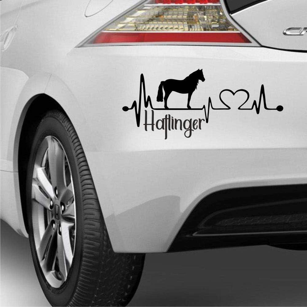 Aufkleber Herzschlag Typ2 Ca 30cm Mit Herz Pferde Silhouette Schriftzug Haflinger Heartbeat Reiten Auto