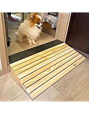 Bridge Entry Ramp for Dogs/Elderlys/Handicapped, Wood Wheelchair Ramps, Home Steps Slope for Doorways, Length 30.8cm (Color : L×W×H, Size : 30.8×30×8cm)