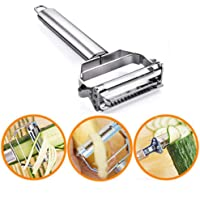 Multi-Functional Slicer Vegetable Fruits Tool Potato Masher Ricer Vegetable Mandoline Slicer Peeler Cutter Carrot Shredder Grater,Additional Blade