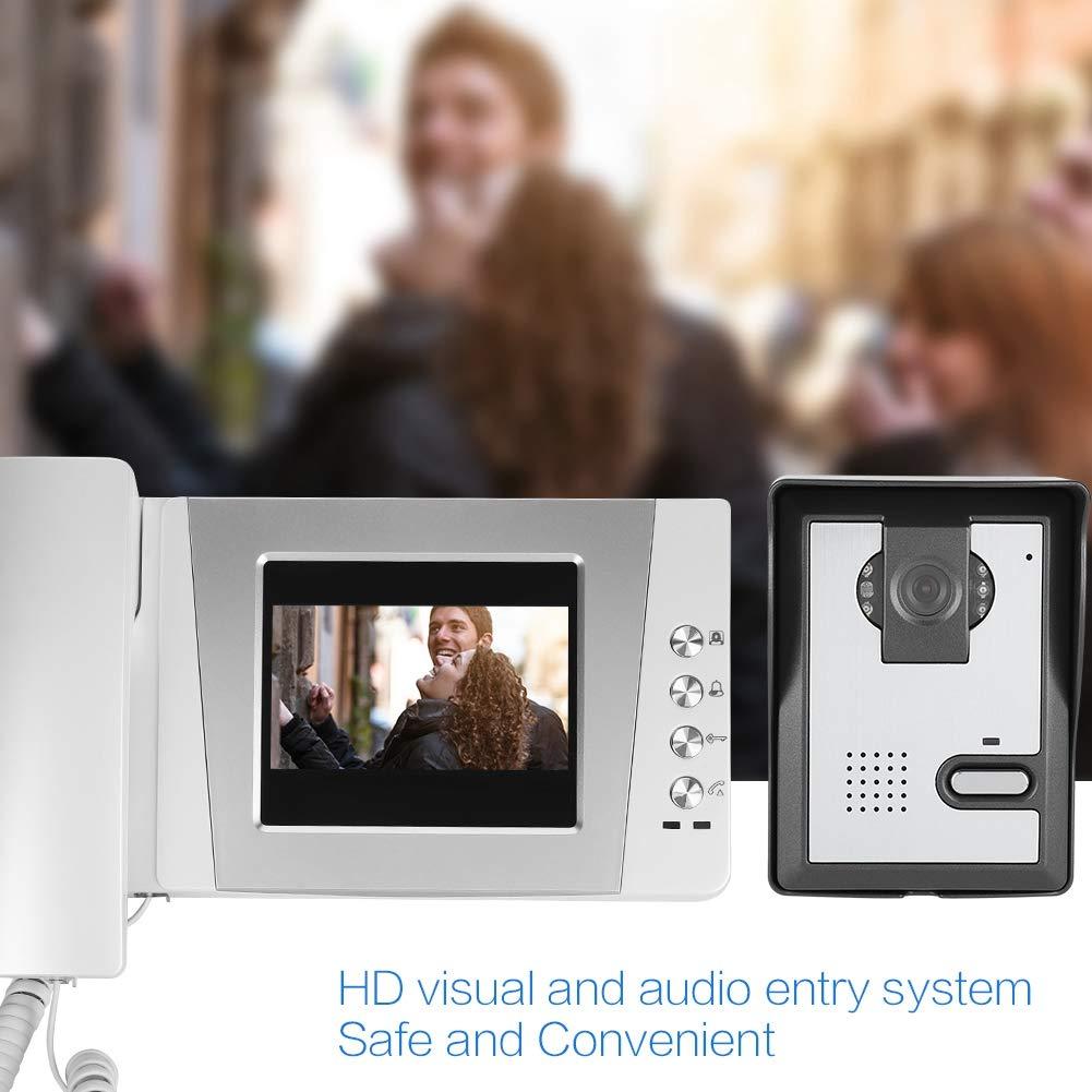 4.3 Timbre de video con pantalla a color seguridad de apartamento familiar Visitantes en el sistema de entrada de audio y video portero autom/ático EU timbre de puerta