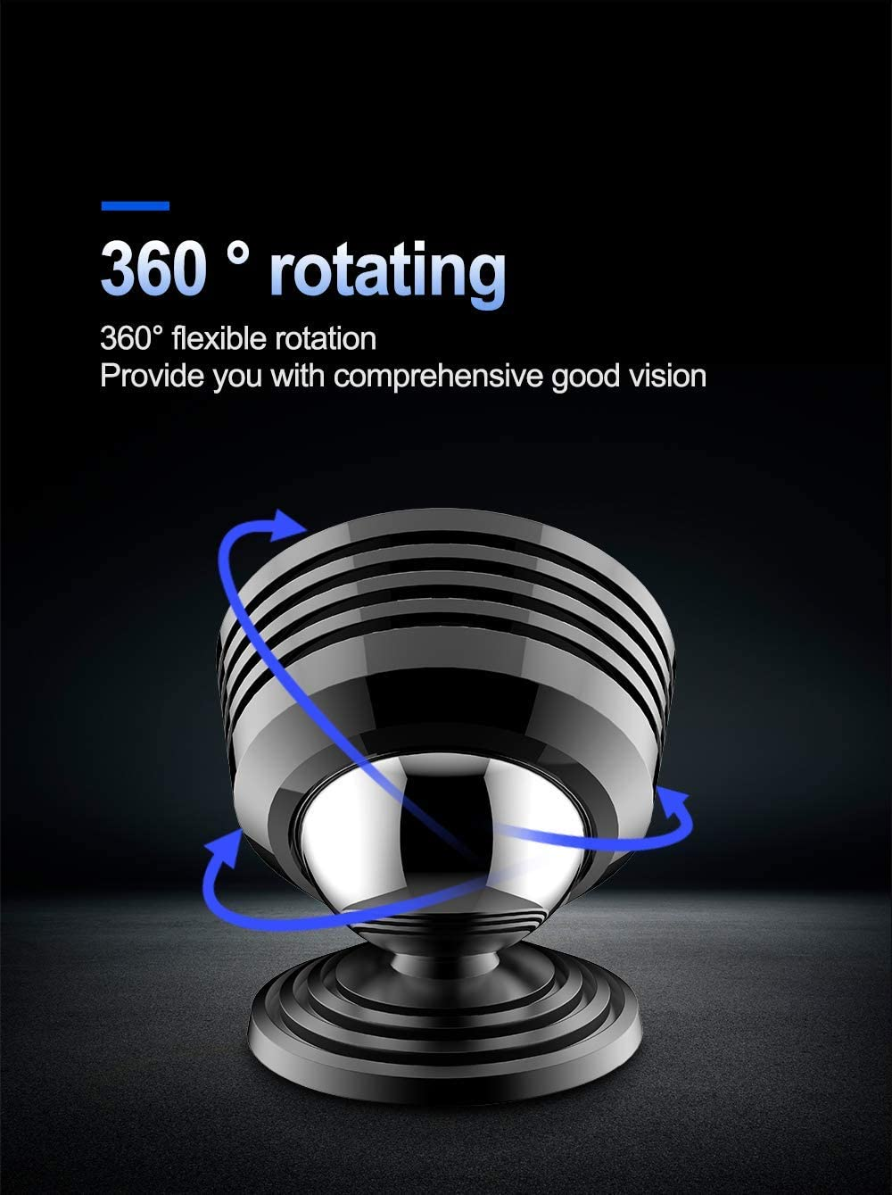 360/° Adjustable Dashboard Phone Car Mount /with Super Strong Compatible with iPhone XR//Xs Max//XS//X//8//8 Plus YOUFO Universal Magnetic Phone Holder Samsung Galaxy S9//S9+te9//S7edge and More