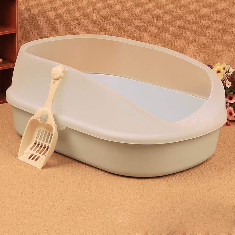 C Axiba Pet toilet Cat Sand Basin semiclosed cat supplies cat toilet heightening a single layer cat basin