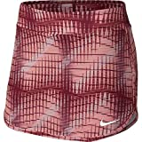 NIKE Women's Printed Pure Tennis Skirt (Team Red/White, Large)