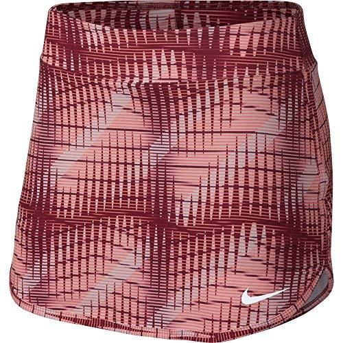 NIKE Women's Printed Pure Tennis Skirt (Team Red/White, Large)