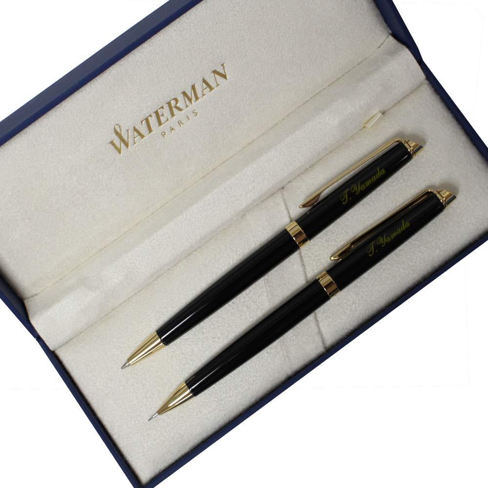 名入れ ボールペン&シャープペン 2本セット ウォーターマン メトロポリタン エッセンシャル ブラックGT WATERMAN B07HCB3BVH
