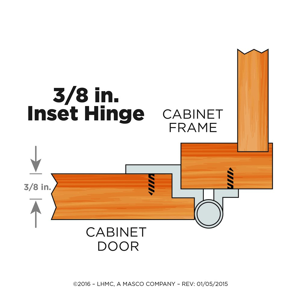 Liberty H00930L-SN-U1 3/8-Inch Inset Hinge without Spring, 10-Pack