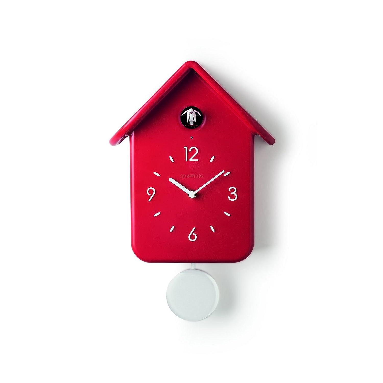 guzzini(グッチーニ) 置き時計掛け時計 レッド 24.8 x 12 x h 39 cm GUZZINI ウォールクロック QQ CUCKOO 16860255 B076FF4WXQ