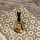 Brass Wooden Handle School/Reception/Dinner Hand Bell - Medium Size