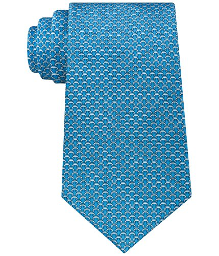 Michael Kors Stately Chain Links 100% Silk Men's Neck Tie (Aqua, One Size) (Necktie Chain Silk)