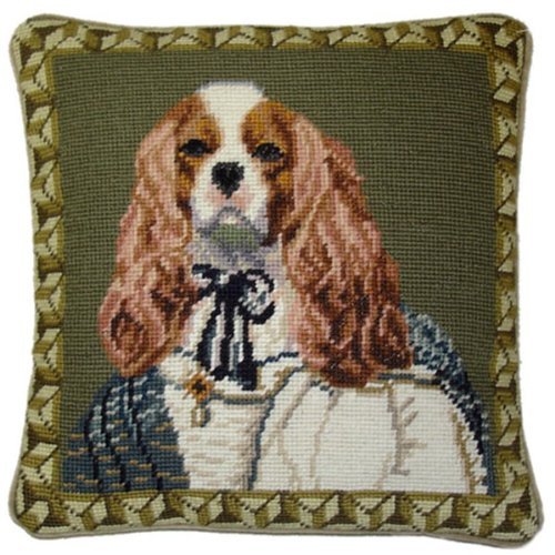 Deluxe Pillows Cocker Spaniel - 12 x 12 in. needlepoint pillow (Spaniel Needlepoint)