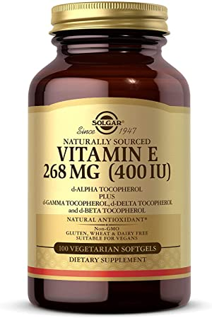 Solgar® Vitamina E 400 UI (268 mg) para proteger frente al estrés oxidativo - 100 Cápsulas bla...