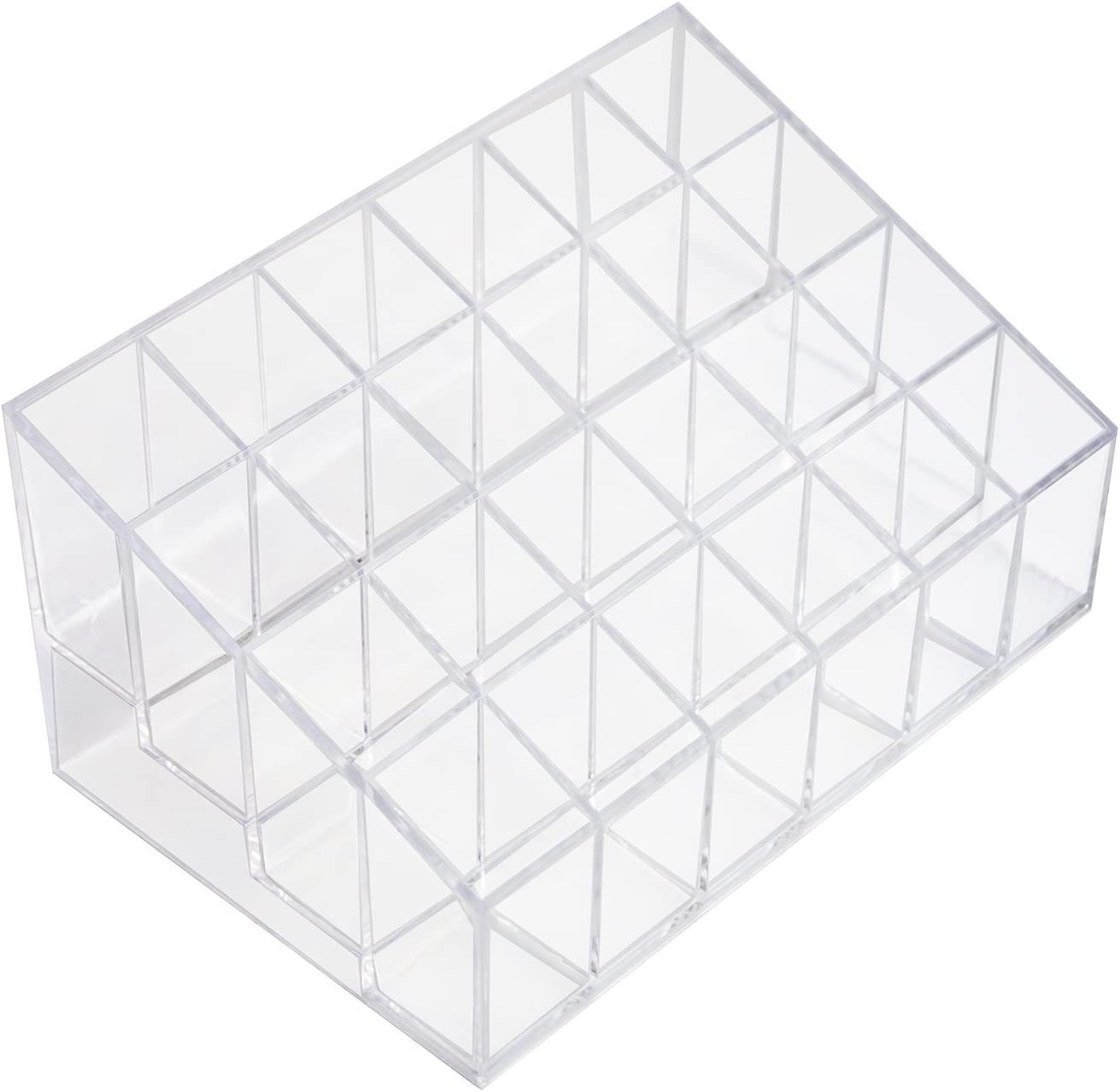 Transparent Cosmetic Makeup Organizer For Lipstick Brushes Bottles And More Clear Case Display Rack Holder Home Kitchen