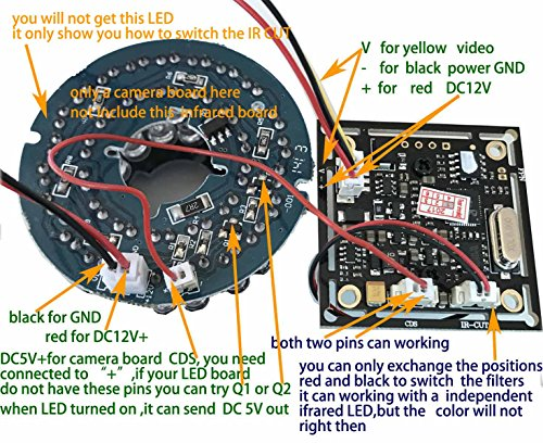 ansice 2 1mm lens wide angle mini cmos board camera 1000tvl with rh ebay com Surveillance Camera Wiring Diagram Security Camera Wiring Guide