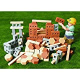 Excellerations Realistic Foam Jumbo Construction Bricks and Blocks, Set of 99 Pieces, Preschool, Educational Toy, STEM, Ages 2 Year and Up (Item # ALLBUILD)