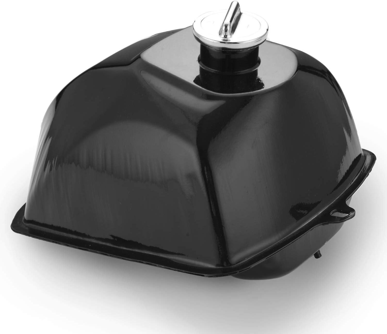 Metal Fuel Tank with Cap for Go Kart ATV 125-250CC,Fits Taotao Go Kart and 4 Wheel ATV Black necaces ATV Fuel Gas Tank