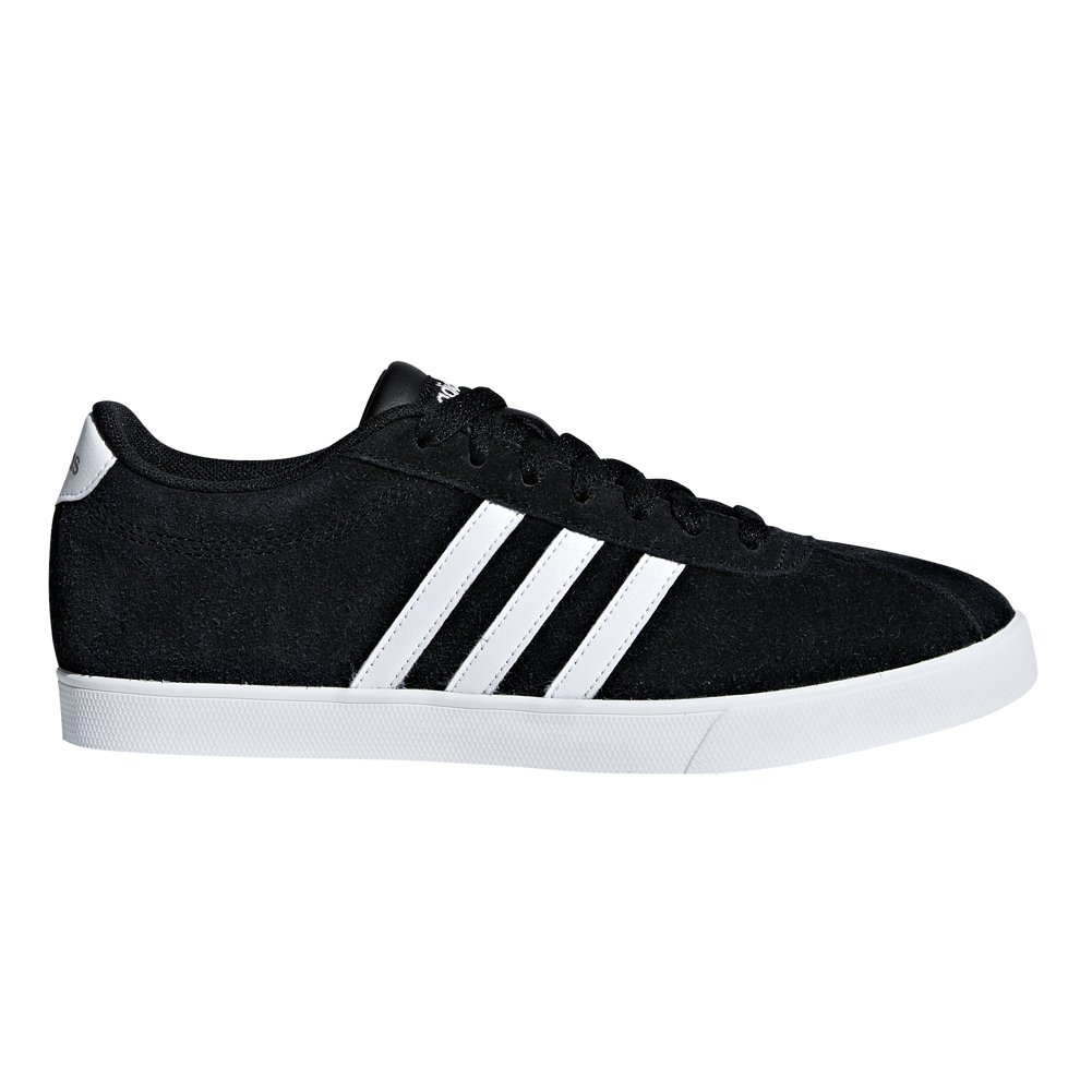 adidas Women's Courtset Sneaker, Black/White/Matte Silver, 6.5 M US by adidas