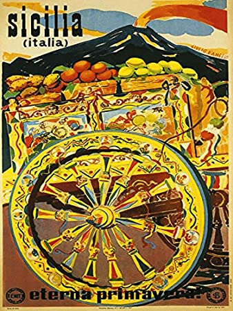 Amazoncom Canvas Sicily Sicilia Largest Island In The