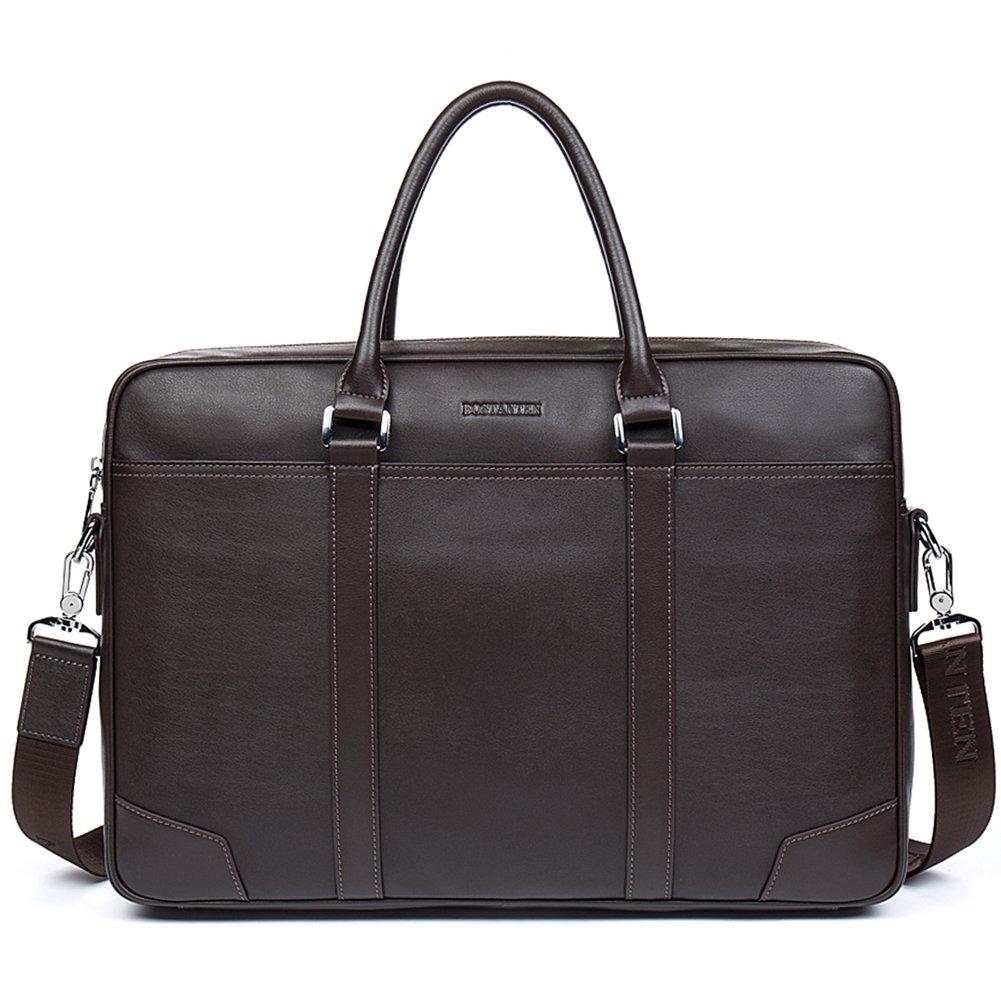 BOSTANTEN Leather Briefcase Messenger Business Bags Laptop Handbag Men Brown by BOSTANTEN