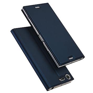 Sony Xperia XZ Premium Funda, SMTR Ultra Silm de PU Cuero Flip, Leather Wallet Case Cover Carcasa Funda con Ranura de Tarjeta Cierre Magnético y ...
