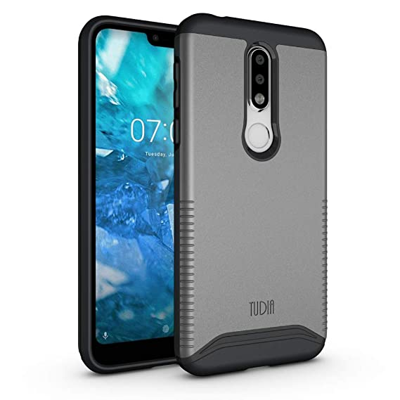 buy online 3feba cff49 TUDIA Merge Nokia 7.1 Case with Heavy Duty Extreme Protection/Rugged but  Slim Dual Layer Shock Absorption Case for Nokia 7.1 (2018) [NOT Compatible  ...