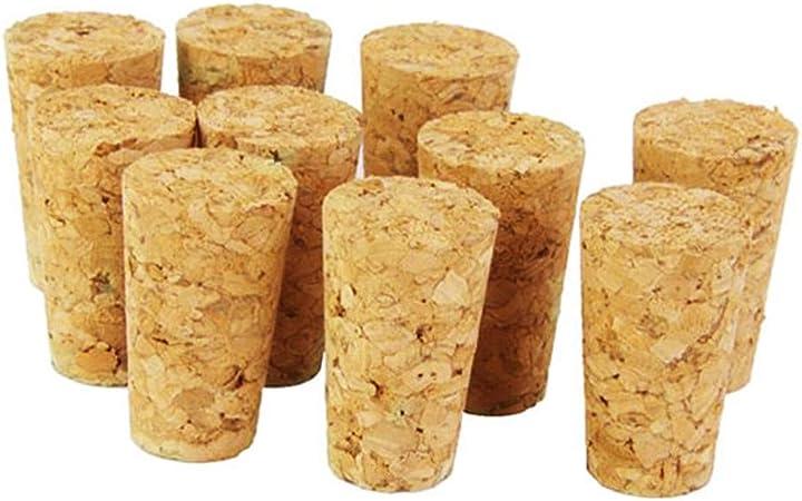 10pcs bouchons de vin en bois naturel bouchon de bouteille en bois bouchon type de c/ône coniques bouchons de bouteille de vin bouchon bouchon d/étanch/éit/é bouteille de bi/ère bouchon de bonde