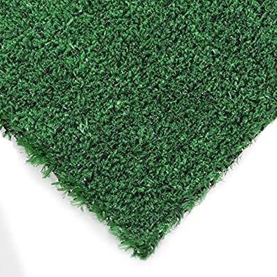 Synturfmats Green Artificial Grass Carpet Rug - Indoor/Outdoor Synthetic Turf Runner Area Rugs for dogs, patios, porches