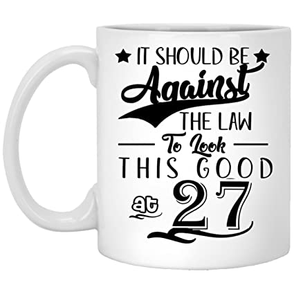 27th Birthday Gifts For Women Eighty Years Old Men Gift Happy Funny 27 Mens Womens Womans