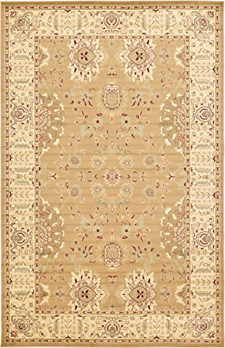 Unique Loom Voyage Collection Traditional Oriental Classic Tan Area Rug (11' x 16') - Beige Mahal Rectangle Rug