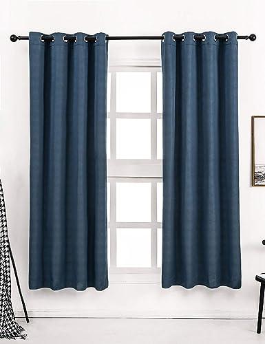 Avigers Luxury Blackout Diamond Grid Pattern Window Curtain Panel