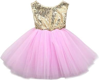 Girls pink Sleeveless sequins summer dress wedding,party,tutu size 1 18 months