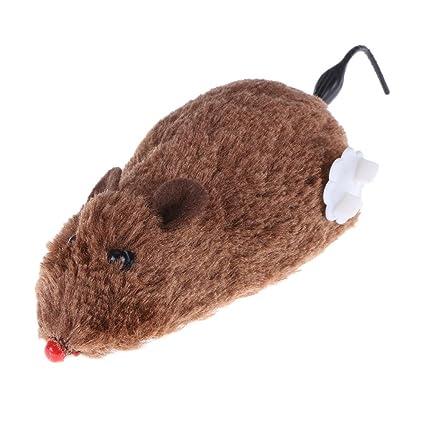 Domybest - Ratón de juguete para gato, perro, rata, mecánico, movimiento interactivo