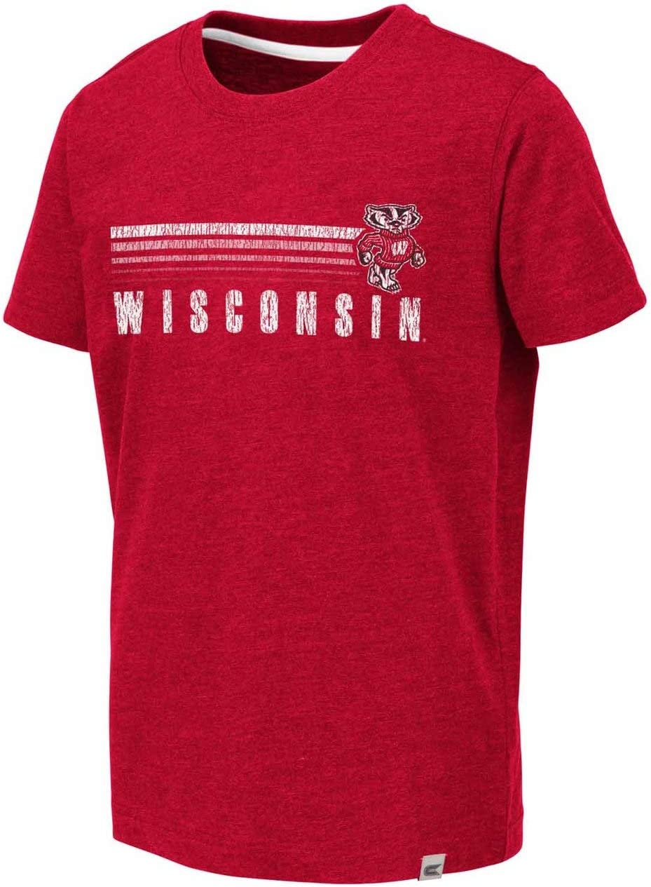 Red Colosseum Wisconsin Badgers Youth NCAA First Down T-Shirt