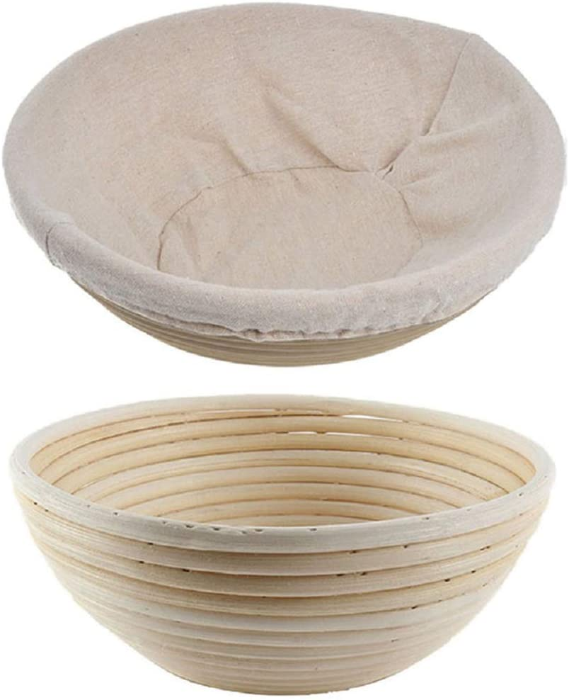 Kitchen Accessories,6Pcs Bread Banneton Proofing Basket Baking Bowl Dough with Removable Liner and Scraper Tool for Bakers Proving Baskets