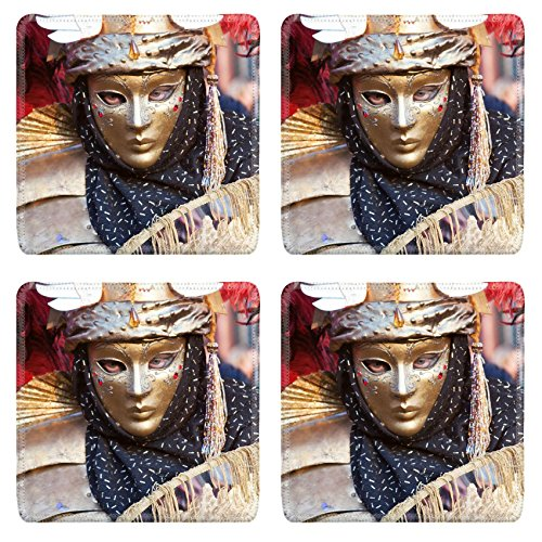 MSD Square Coasters IMAGE 23684153 Carnival mask in Venice (Fasching Costume)